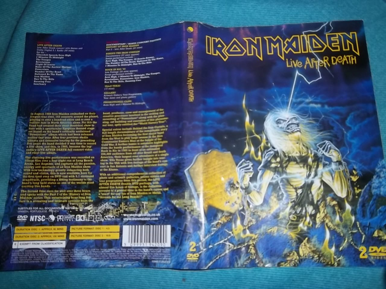 El Arte de Iron Maiden (live after death) fotos mias!