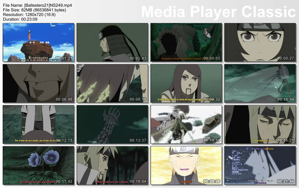 Naruto Shippuden 248 y 249 .avi y .mp4 x mediafire